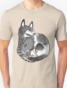 husky loves kitty Unisex T-Shirt