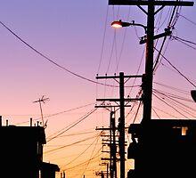 sunset in hollywood by Karol Franks