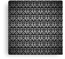 Black Eyelet Fabric Pattern Canvas Print