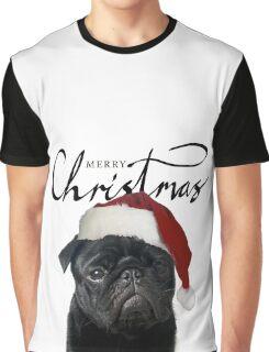 Christmas Pug - Hugo Graphic T-Shirt