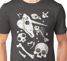 black Skulls and Bones - Wunderkammer Unisex T-Shirt
