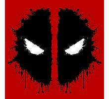 Deadpool Rorschach 2 Photographic Print