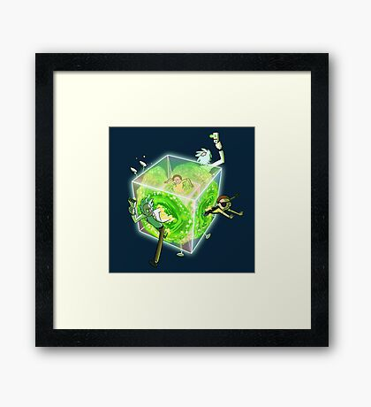 Rick and Morty Tesseract Framed Print
