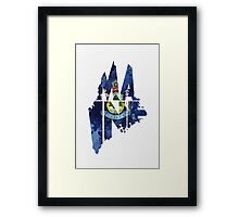 Maine Typographic Map Flag Framed Print