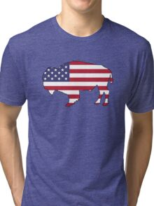 American Flag – Bison Tri-blend T-Shirt