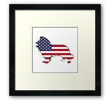 American Flag – Border Collie Framed Print
