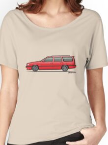 Volvo 850R 855R T5R Wagon Red Women's Relaxed Fit T-Shirt