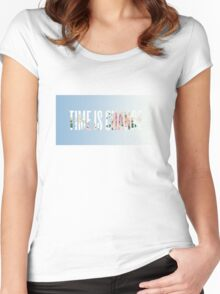TIME IS CHANGE Women's Fitted Scoop T-Shirt