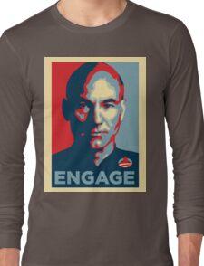 'Engage' (Obama style) T-shirt Long Sleeve T-Shirt