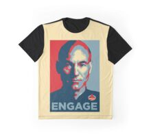 'Engage' (Obama style) T-shirt Graphic T-Shirt