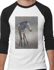 Dreams in Black and White (Grevy's Zebra) Men's Baseball ¾ T-Shirt
