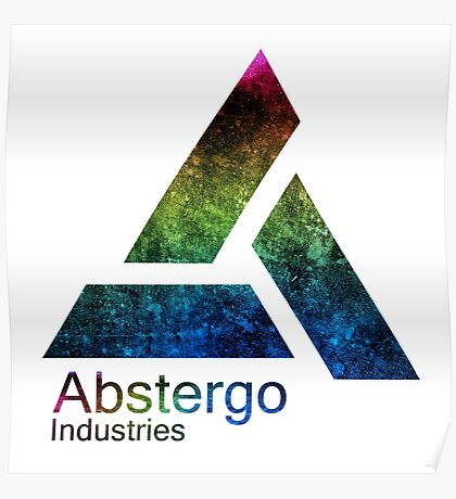 °GEEK° Abstergo Industries Rainbow Logo Poster
