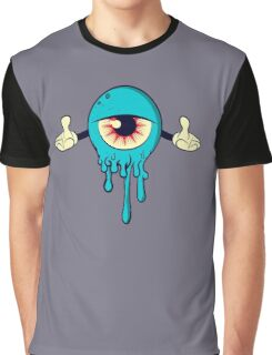 One Eye Monster Face  Graphic T-Shirt