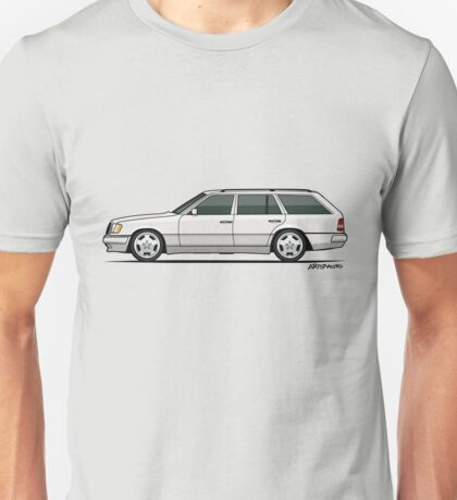Mercedes Benz W124 300TE Wagon (White) Unisex T-Shirt