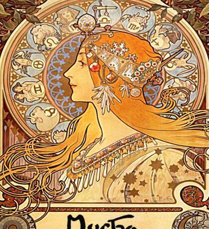 Alphonse Mucha - Zodiac Sticker