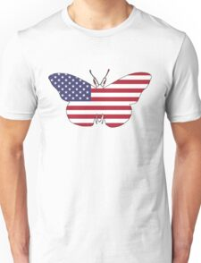 American Flag – Butterfly Unisex T-Shirt
