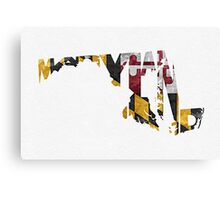 Maryland Typographic Map Flag Canvas Print