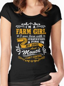 I'm a farm girl T-shirt Women's Fitted Scoop T-Shirt