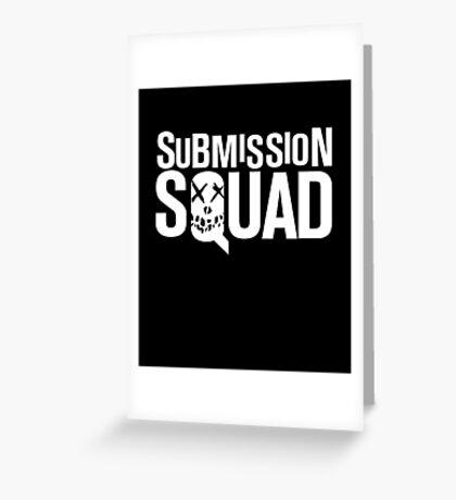 Submission Squad (Brazilian Jiu Jitsu / BJJ) Greeting Card