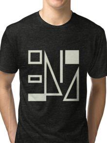 True Colours Split Enz [white on black] Tri-blend T-Shirt