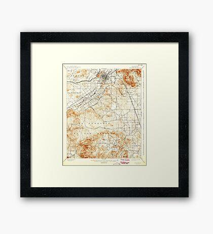 USGS TOPO Map California CA Riverside 298783 1901 62500 geo Framed Print