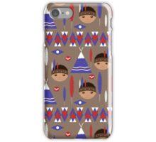 Seamless kids cute American indian native retro background pattern iPhone Case/Skin