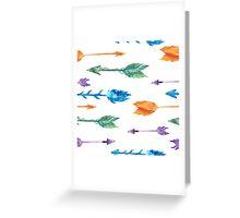 Tribal watercolor arrows Greeting Card