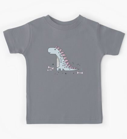 Ornament with dinosaurs, Jurassic Park. Adorable seamless pattern with funny dinosaurs in cartoon Kids Tee