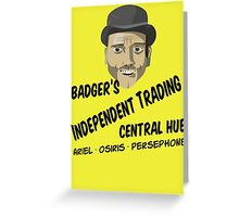 Badger's Independent Trading Greeting Card