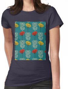 WHITE TULIP Womens Fitted T-Shirt
