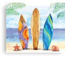 California Surfboard Landscape Canvas Print