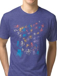 octopuses party 2 Tri-blend T-Shirt
