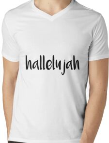 Hallelujah Mens V-Neck T-Shirt
