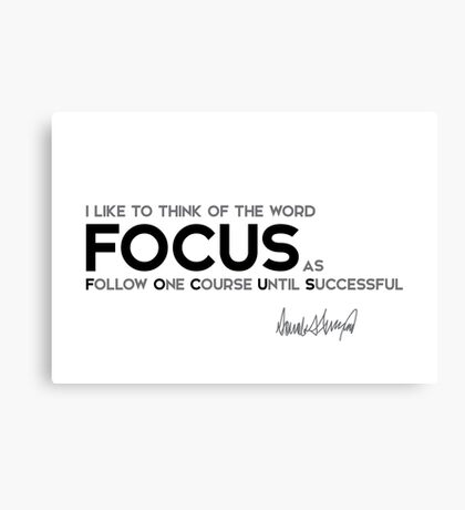 the word FOCUS - donald trump Canvas Print