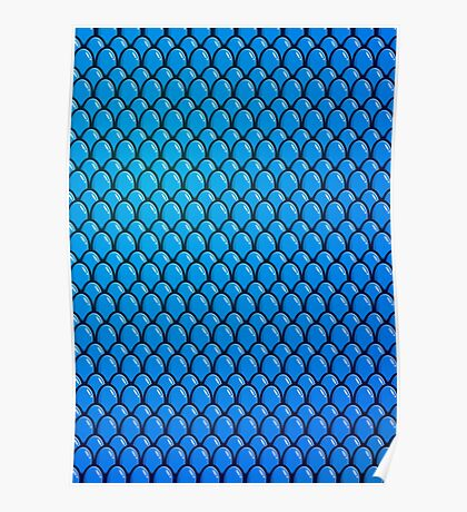 Blue Dragon Scale Poster