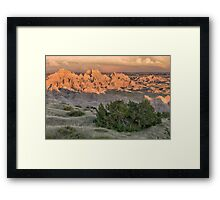 Badlands Scene Framed Print