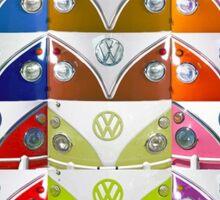 OLD VW SAMBA FACES Sticker