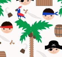 Seamless pirate colorful kids retro background pattern Sticker