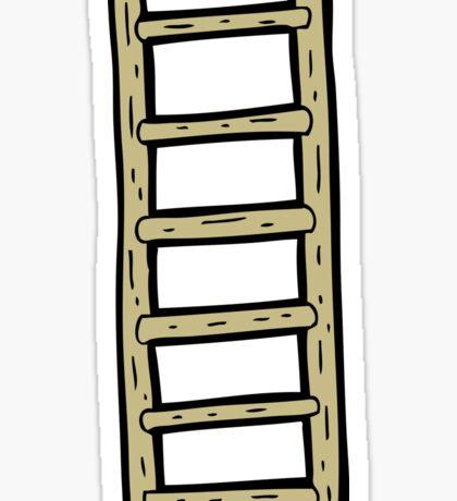 cartoon ladder Sticker