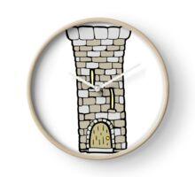 cartoon old castle tower Clock