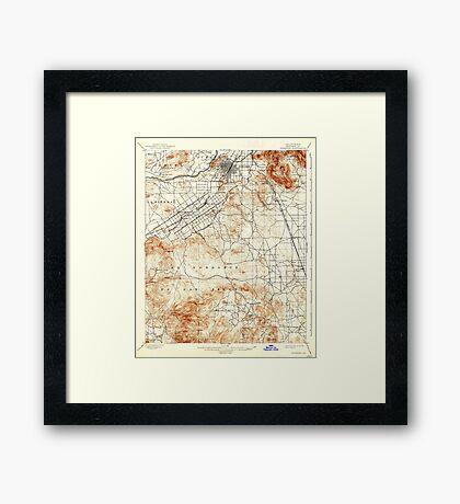 USGS TOPO Map California CA Riverside 298782 1901 62500 geo Framed Print