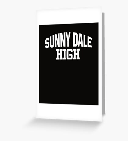 Sunnydale High white Greeting Card