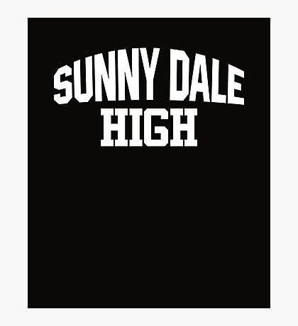 Sunnydale High white Photographic Print