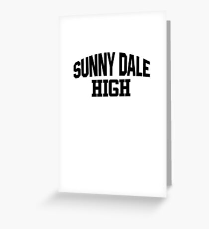 Sunnydale High black Greeting Card