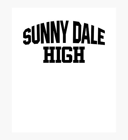 Sunnydale High black Photographic Print