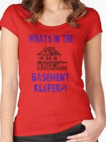 The Burbs - Whats In The Basement Klopek? Women's Fitted Scoop T-Shirt