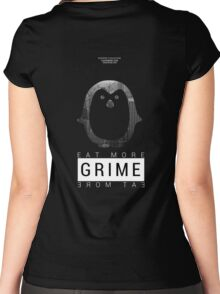 "ATROPHY COLLECTIVE - ""Eat More Grime"" DJ Penguin Exclusive Women's Fitted Scoop T-Shirt"