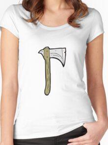 cartoon axe Women's Fitted Scoop T-Shirt