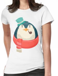 Hipster Penguin Womens Fitted T-Shirt