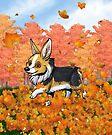 """Fall"" Corgi by shivae"